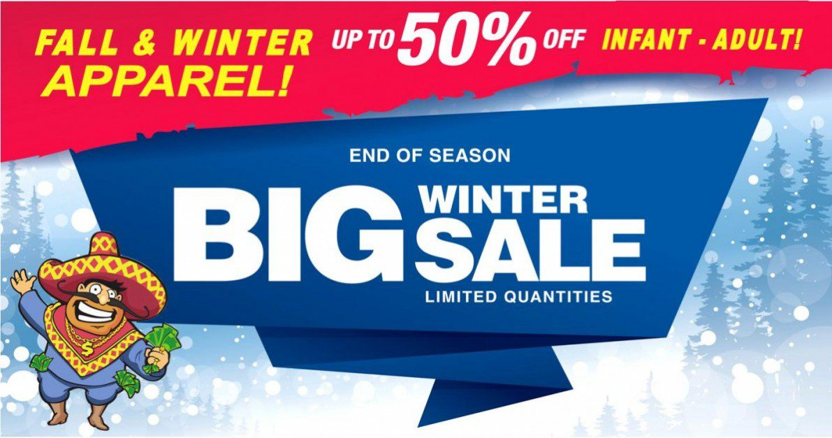 Winter Clearance Blowout at Uncle Dan's Outlet! Save up to 50% off Fall and Winter Apparel and more