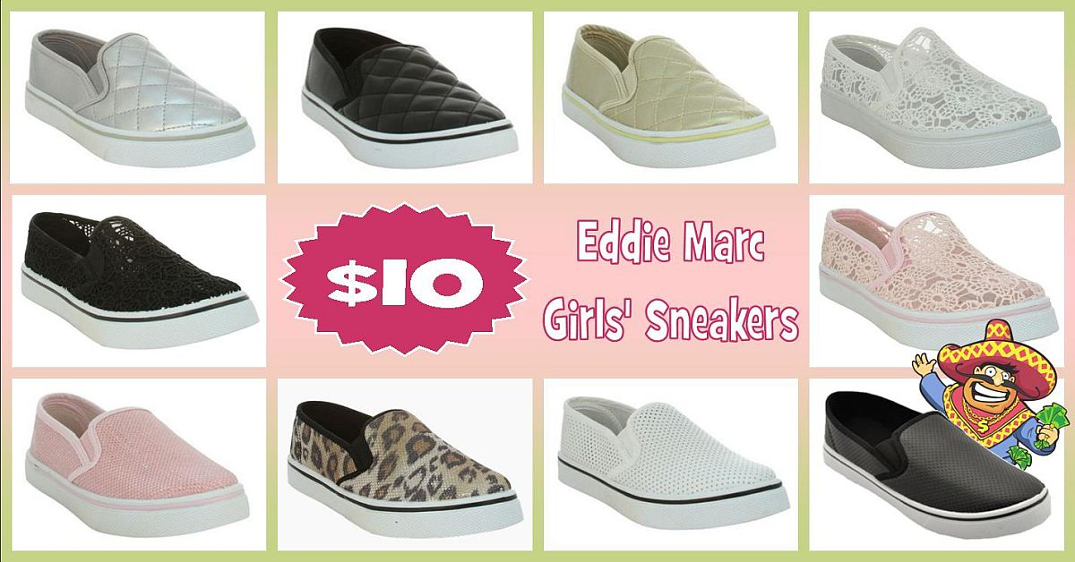 Step into Spring! Eddie Marc girls' sneakers at discount prices!