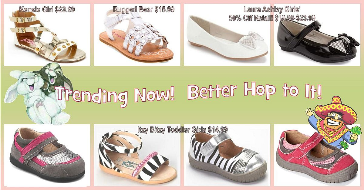 Step into Spring at Uncle Dan's Outlet! Girls' Easter dress shoes in all sizes at discount prices. Many department store name brands!