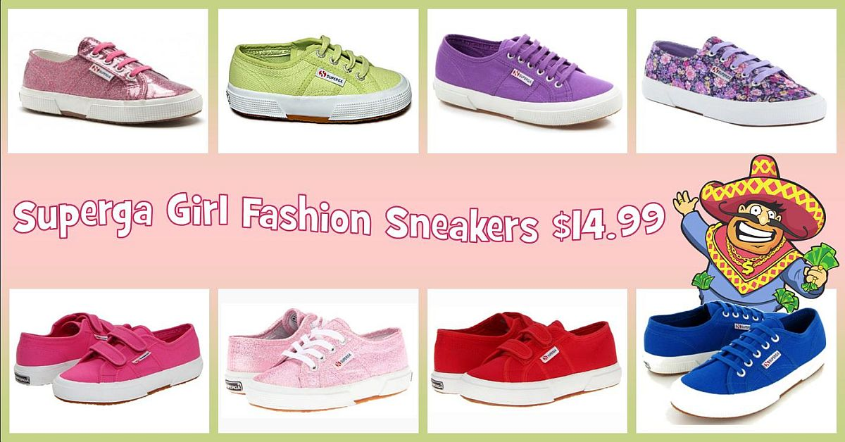 Step into Spring at Uncle Dan's Outlet! Girls' Superga trendy fashion sneakers on sale now!