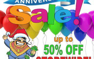 1 Year Anniversary Sale! Save up to 50% off storewide - 75% off clearance items