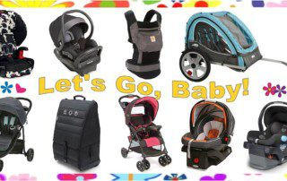 Baby Travel Gear - images of assorted baby gear for families on the go