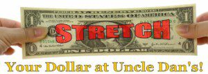 Stretch Your Dollar at Uncle Dan's Christmas in July Sale!