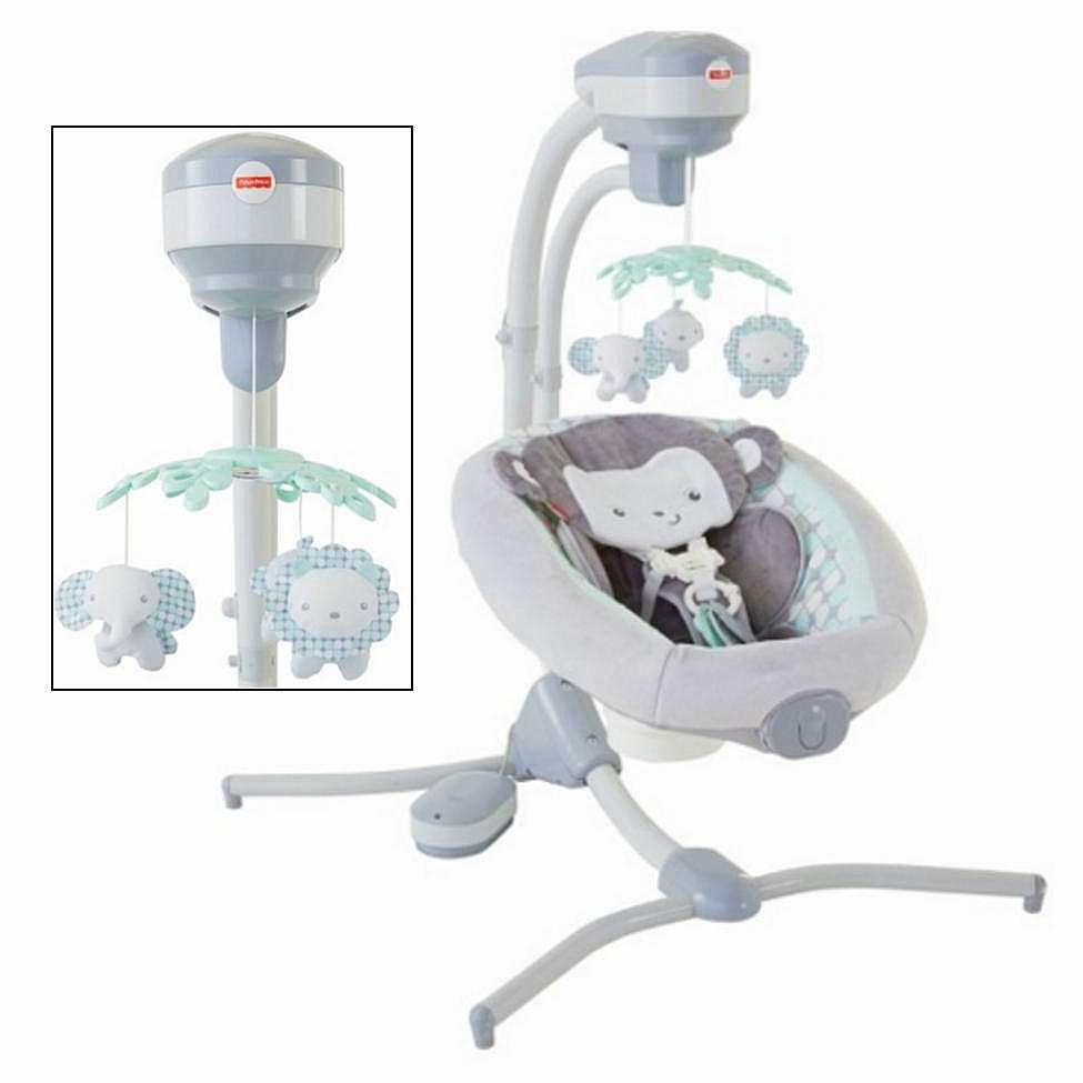 Special Delivery: Top-rated Baby Swings and Bouncers! Fisher-Price Sweet Surroundings Monkey Cradle 'n Swing