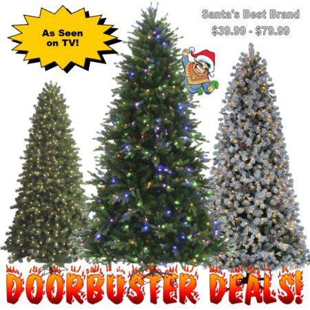 Black Friday Doorbuster Deals on Santa's Best Christmas Trees