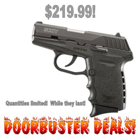 Black Friday Doorbuster Deals on SCCY 9mm pistols