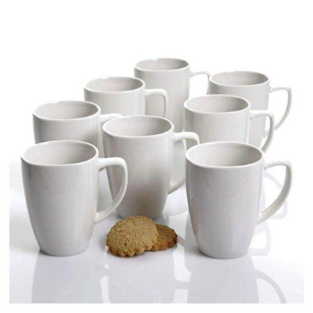 Gibson Gracious White Ceramic Buffet mugs