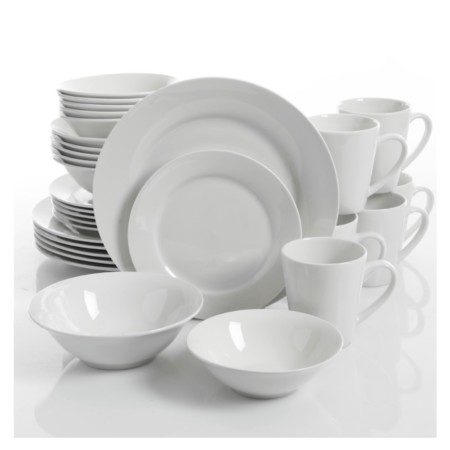 Gibson Gracious White Ceramic buffet pieces